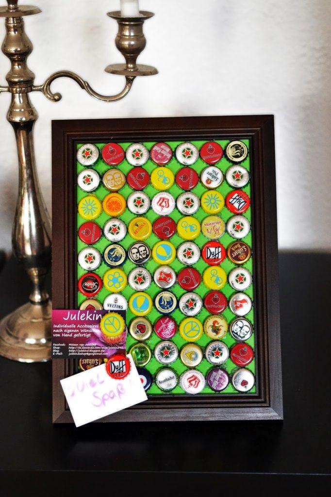 Tutorial: Magnetwand aus Kronkorken mit passenden Magneten