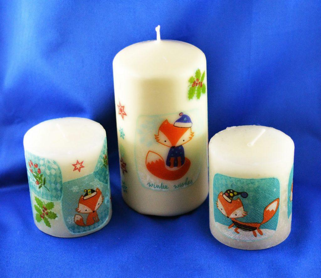 Tutorial: Kerzen mit Servietten dekorieren